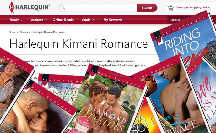 Harlequin Kimani Romance at Romance Booklovers Event Romance Slam Jam Convention Los Angeles / Harlequin logo