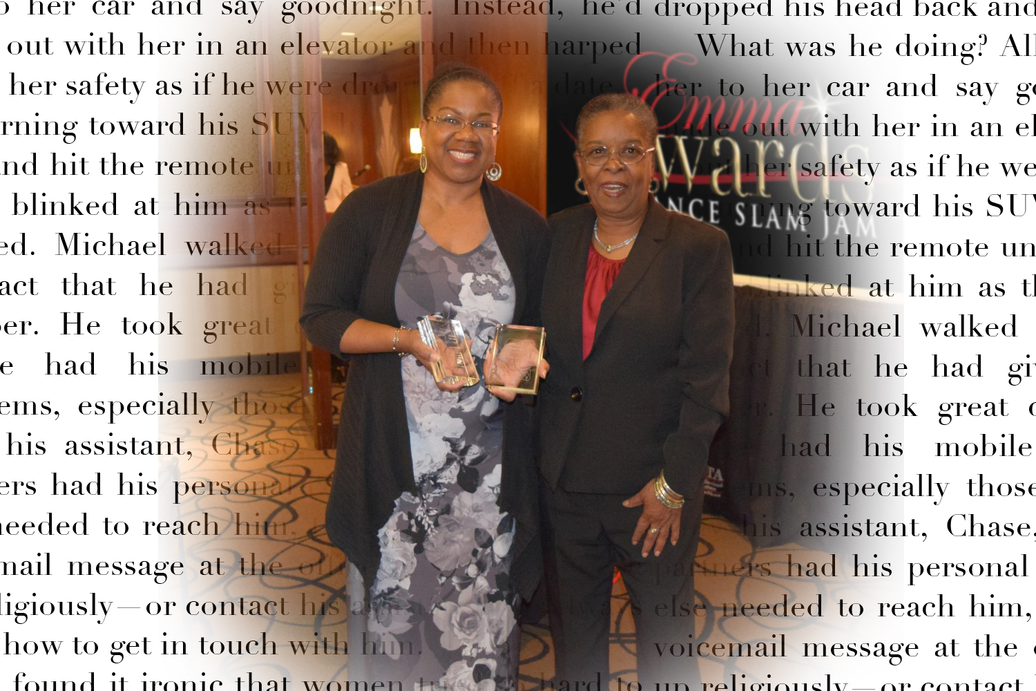 Emma Awards with author Beverly Jenkins and author Lisa Rayne (black authors)