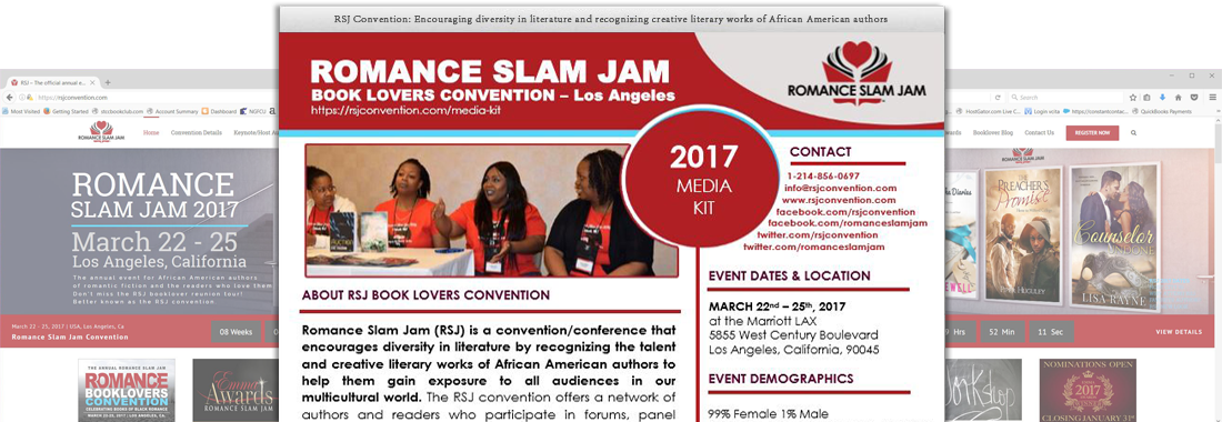 Romance Slam Jam Book Lovers Convention Media Kit